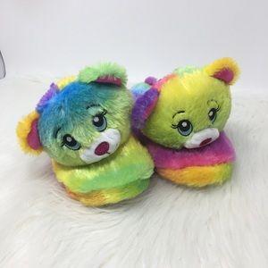 Build & Bear slippers bear colorful